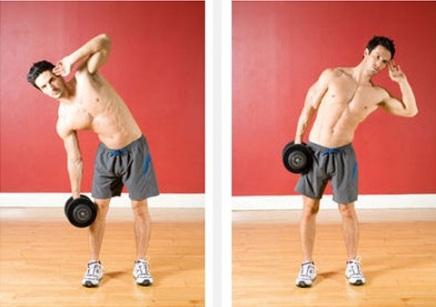 best-oblique-exercises-Dumbbell-Side-Bends-